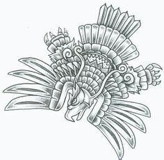 dibujos mayas en lápiz