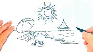 dibujos de playa