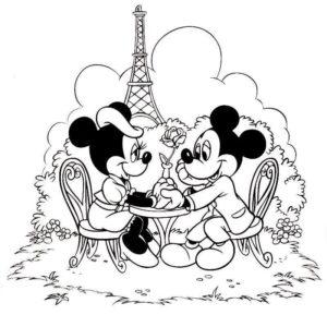 dibujos románticos para imprimir