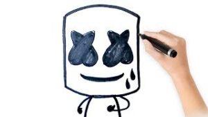 marshmello dibujos