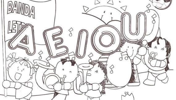 dibujos a lápiz de las vocales para imprimir