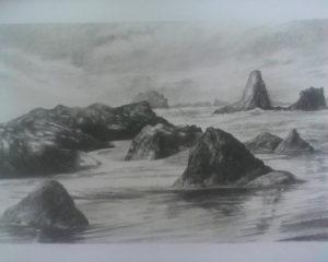 dibujos del mar en lápiz