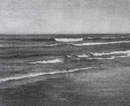 mar hecho a lápiz