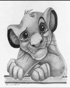 rey leon para imprimir