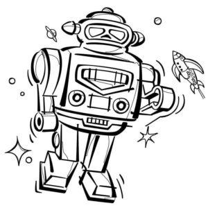 Dibujos de Robots para imprimir