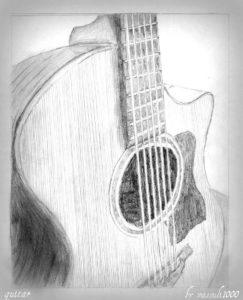 dibujo de una guitarra