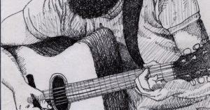 dibujos a lápiz de guitarras