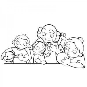 dibujos de abuelos a lápiz