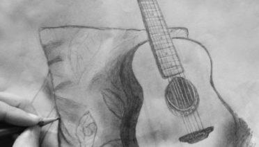 dibujos de guitarras a lápiz