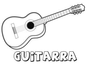 dibujos de guitarras para imprimir