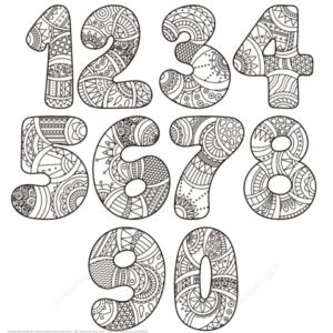 dibujos de números para imprimir