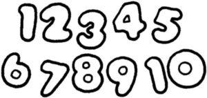 dibujos de números para niños