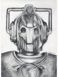 dibujos de robots a lápiz