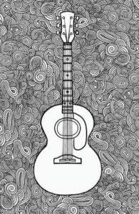 guitarra en lápiz