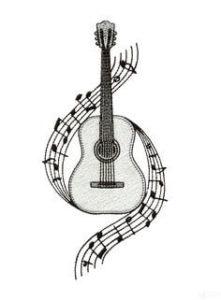 guitarras a lápiz
