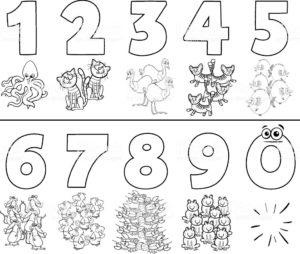 los números a lápiz