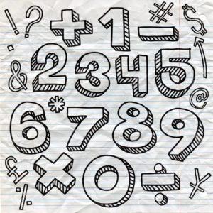 números a lápiz