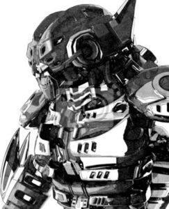 robot en lápiz