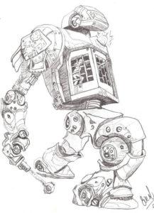 robots a lápiz