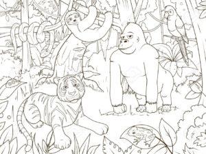 selva para dibujar
