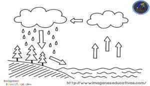 Dibujos del ciclo del Agua para imprimir