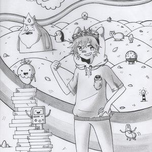 dibujos a lápiz de hora de aventura