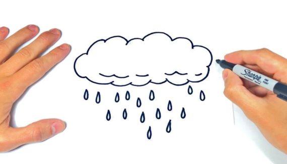 dibujos de nubes a lápiz