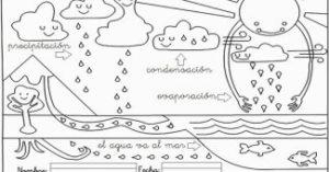 dibujos escolares del ciclo del agua