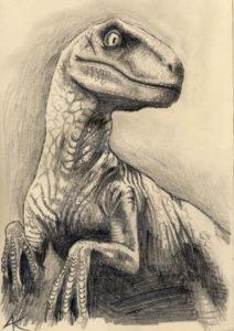 dinosaurio a lápiz