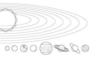 imágenes del sistema solar a lápiz