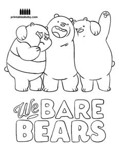 osos esncadalosos a lápiz