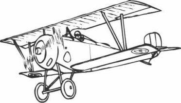 aviones en lápiz