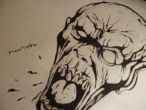 dibujo de zombies