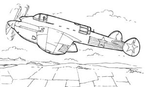 dibujos de aviones a lápiz