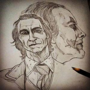 dibujos del joker a lápiz