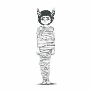 dibujos momias