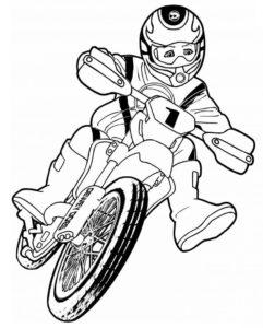 imágenes de motos a lápiz
