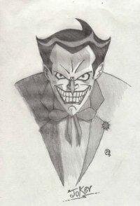 joker hecho a lápiz