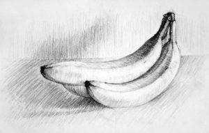bananas a lápiz