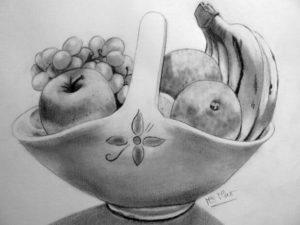 dibujos de frutas a lápiz