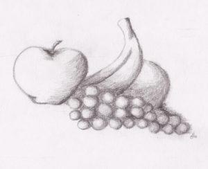 dibujos de frutas realistas
