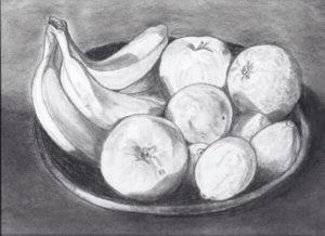 dibujos de frutas sombreados