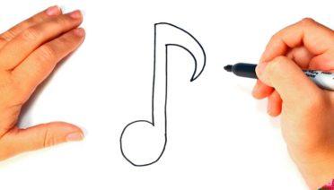 dibujos de notas musicales en lápiz