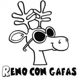 dibujos de renos graciosos