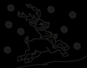dibujos de renos navidad