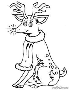 dibujos de un reno