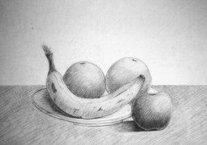 frutas en lápiz