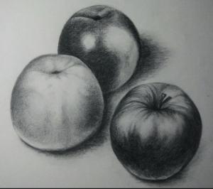 manzanas a lápiz