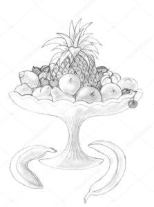 piñas y frutas