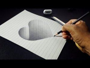 corazón en 3D